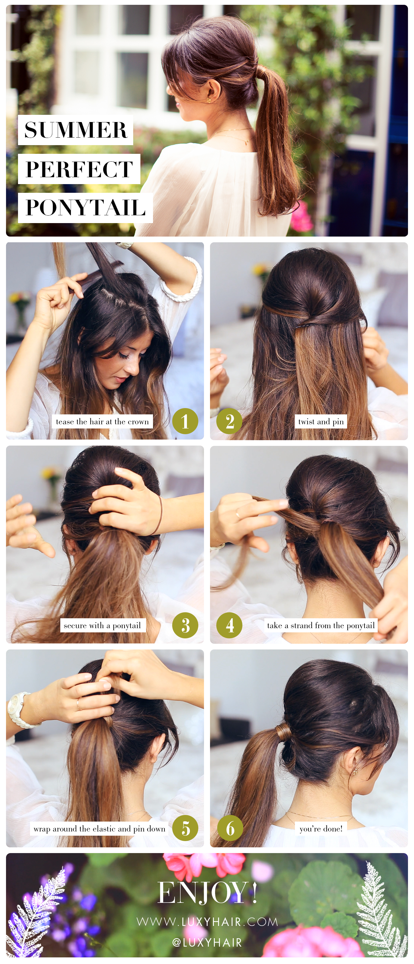 Step By Step Summer Perfect Ponytail Luxy Hair Blog All About Hair
