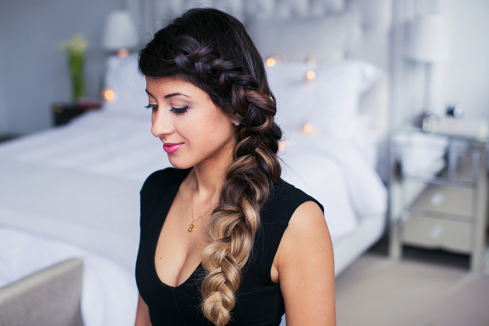 Side dutch french braid luxy hair its a bit tricky to master this braid at first but the result is definitely worth it i am wearing my luxy hair extensions in ombre blonde for added pmusecretfo Images