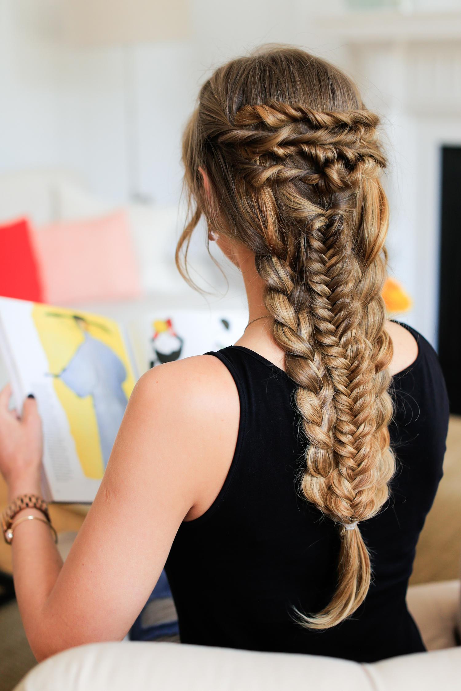 Layered Braid Hairstyle Tutorial Luxy Hair Blog All About Hair