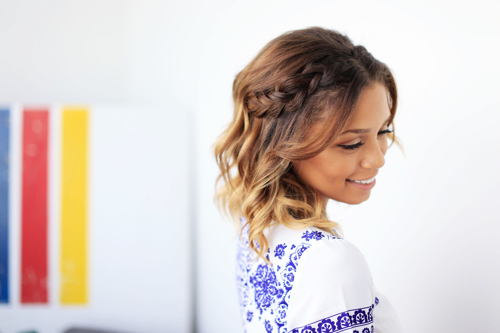Braid half-do - Short hair hairstyle