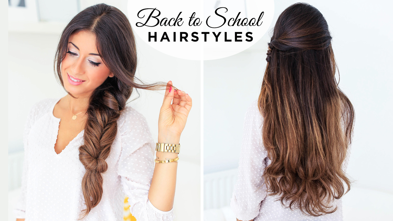Back To School Hairstyles ft. Fluffy Braid — Luxy Hair Blog - All ...