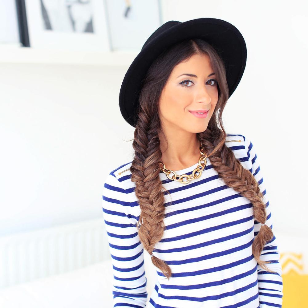 154abcc6ef1 3 Cute Hat Hairstyles – Luxy Hair