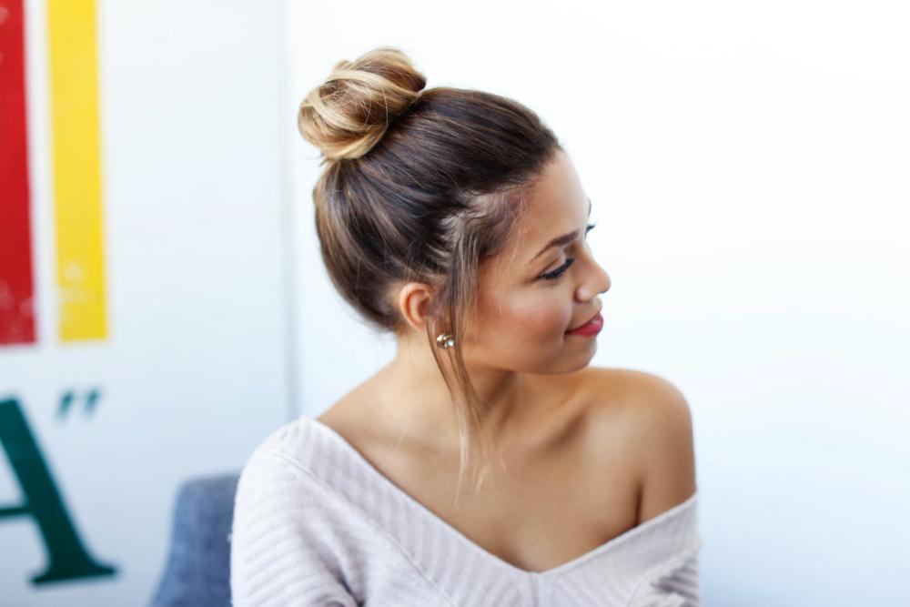 Easy Bun For Shorter Hair
