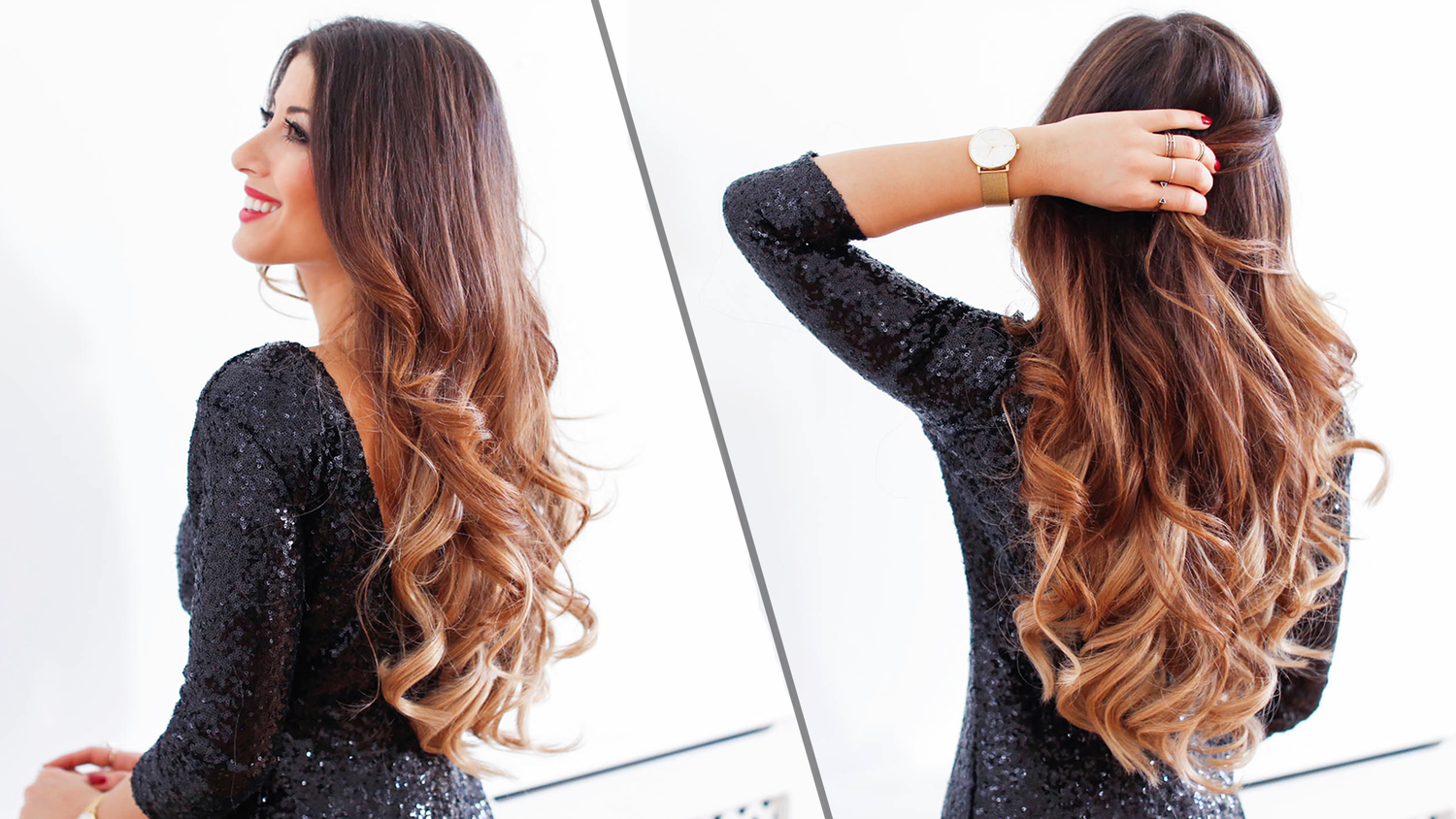 5 Minute Holiday Waves Luxy Hair Blog All About Hair