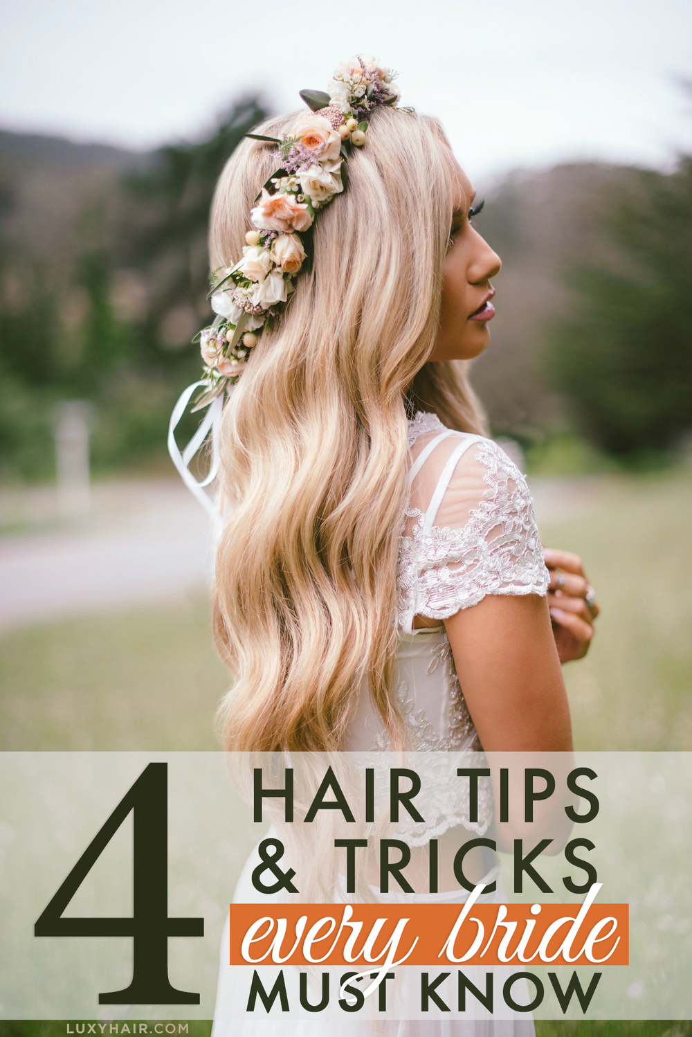 4 wedding hair tips and tricks every bride must know luxy hair 4 wedding hair tips and tricks every bride must know junglespirit Image collections