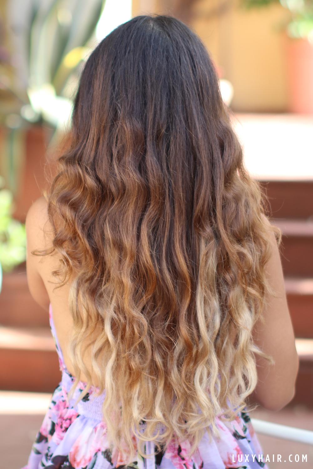 Heatless Beach Waves Hair Tutorial Luxy Hair