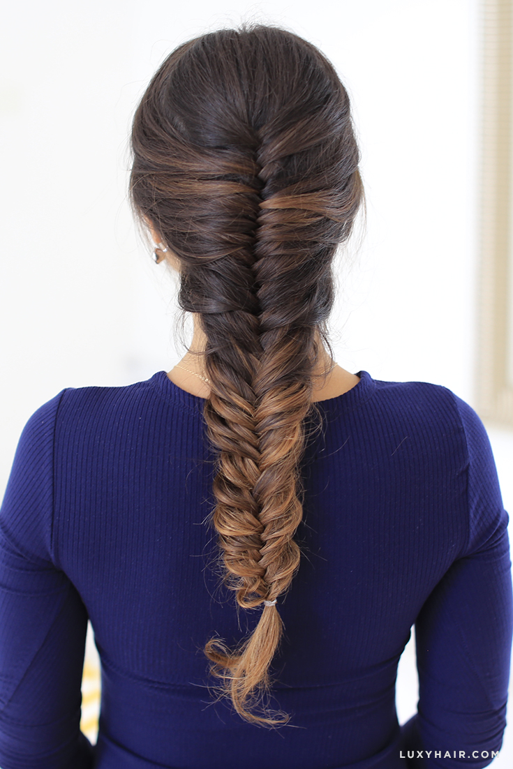 French Fishtail Braid How To French Fishtail Your Own
