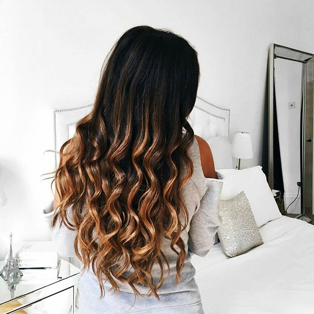 These waves with Ombre Chestnut #luxyhair extensions are a DREAM 😍😍 on @mimiikonn ❤ Double tap if you love these colors! Perfect for Fall 🍁🍂🍊 (Speaking of Fall... check out our latest video. Link in bio 😉)