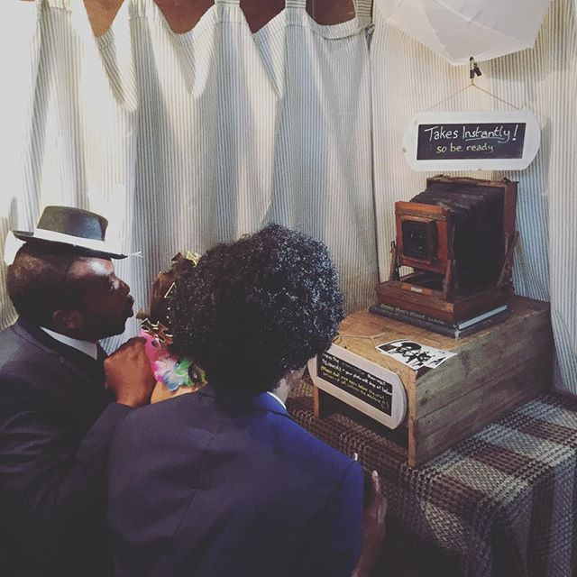 """Silly face on three!"" #lynchwedding • #wedding #photobooth #vintagebooth"
