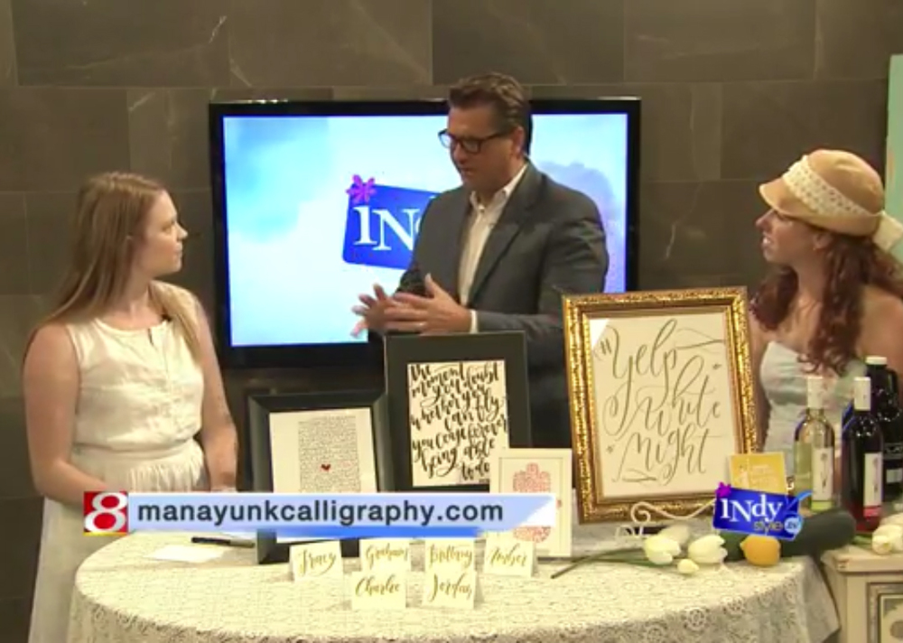 Indy Style  August 31, 2015 Discussing Yelp White Night and the art of modern calligraphy