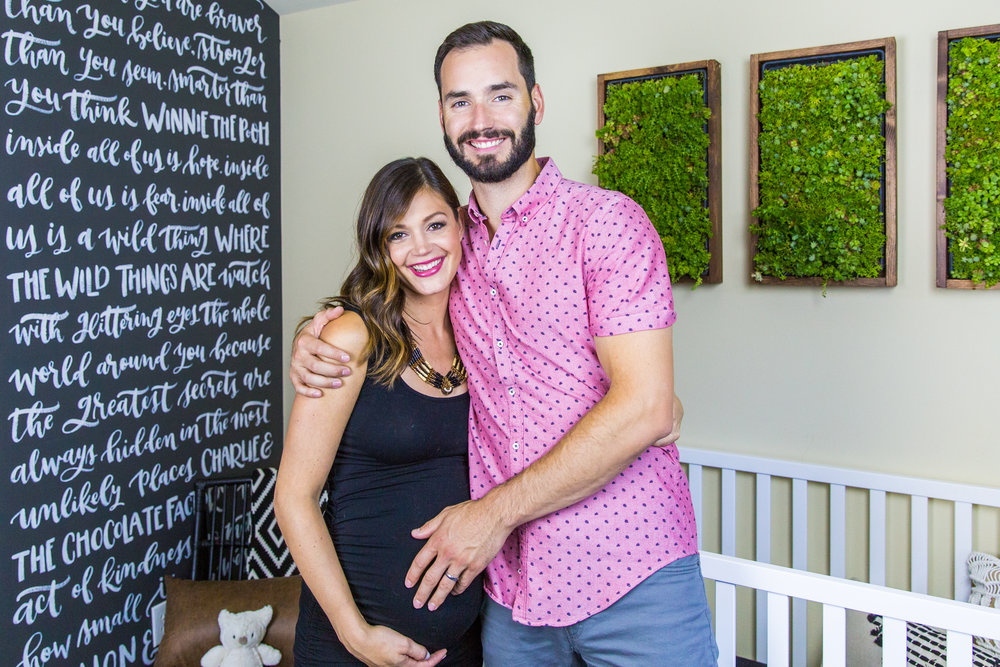 US Weekly September 23, 2016 Created a hand-calligraphied nursery wall for Bachelorette Desiree Hartsock and her husband Chris Siegfried, which was featured in US Weekly.