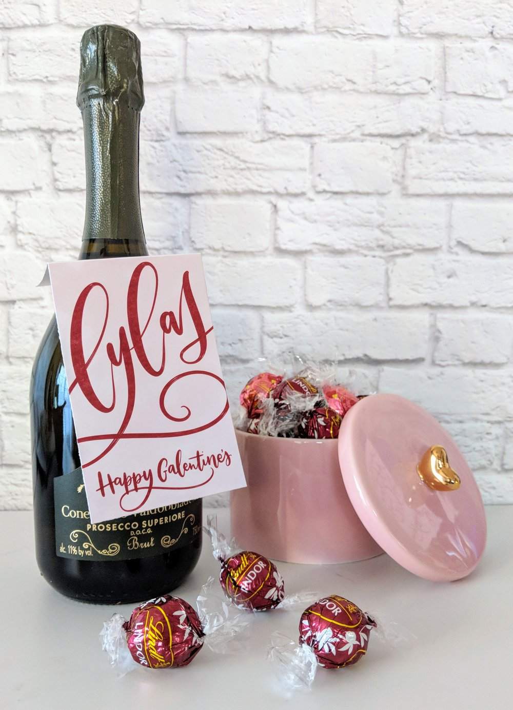 Galentine's Wine Bottle Tags by Manayunk Calligraphy - LYLAS