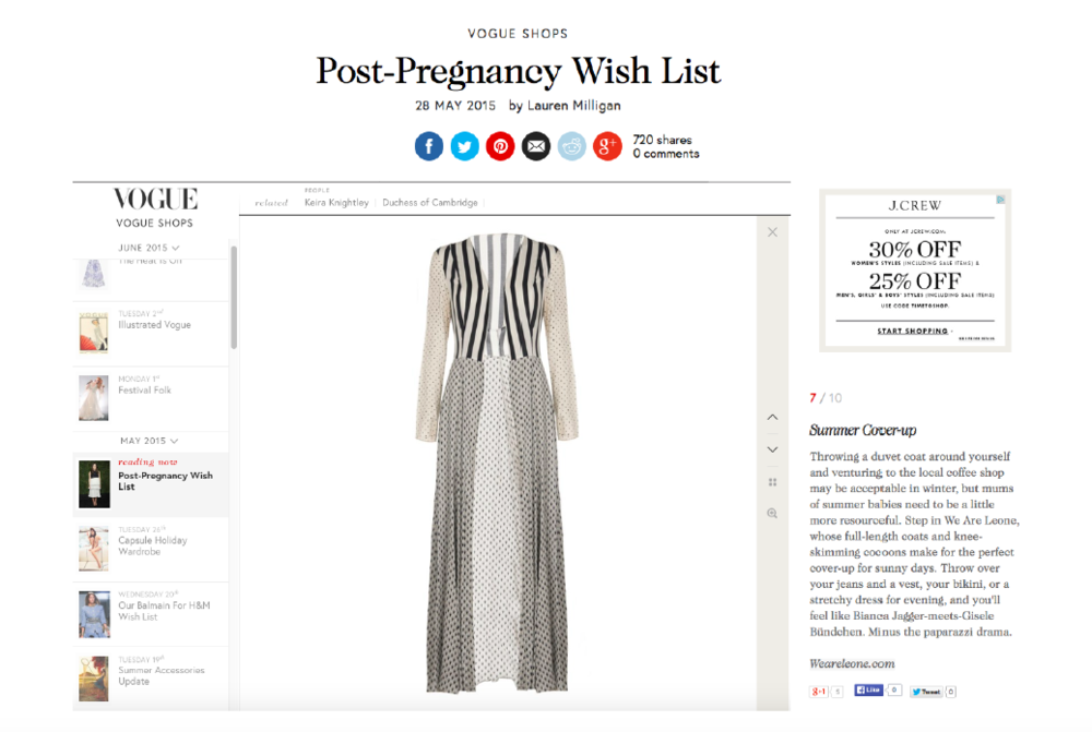 Vogue Post Pregnancy Wish List