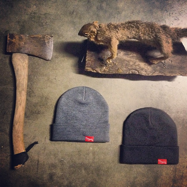 Chop chop, beanies are in and only $12. Limited supplies, get'em while they're hot. #beanie #squirrel