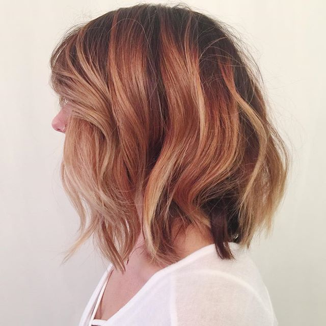darker for fall without losing brightness and dimension. color + cut by Chelsea  #desmoines #beautyofbalayage #balayage #bumbleandbumble #atelierhairspace