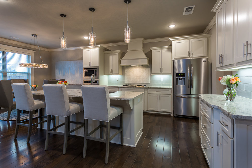 Kitchen real estate photo of home in Quailridge community of Ben