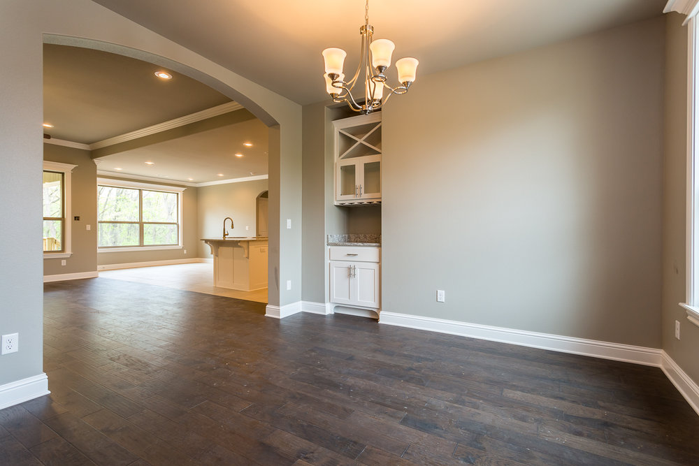 Real Estate photo of custom built ins of home in Bella Vista.