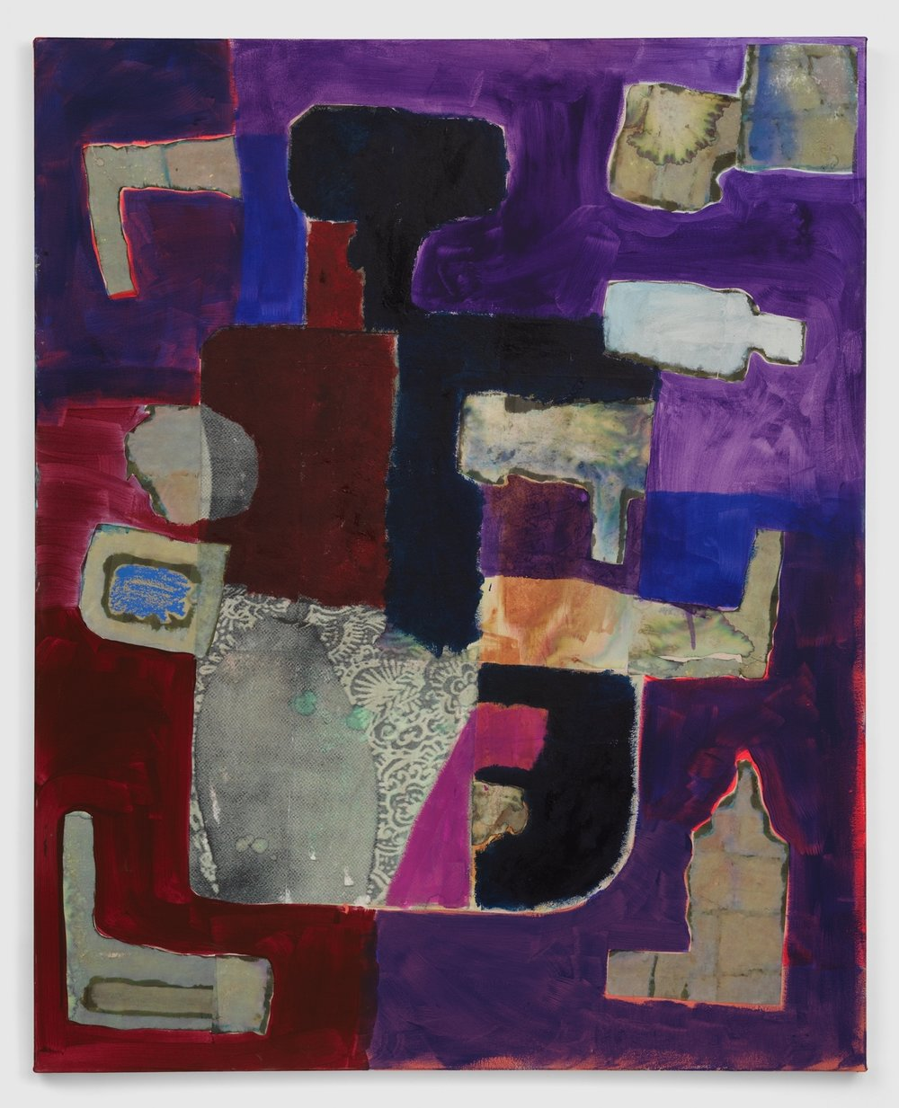Acrylic, oil, and collage on canvas  2018  60 x 48 inches