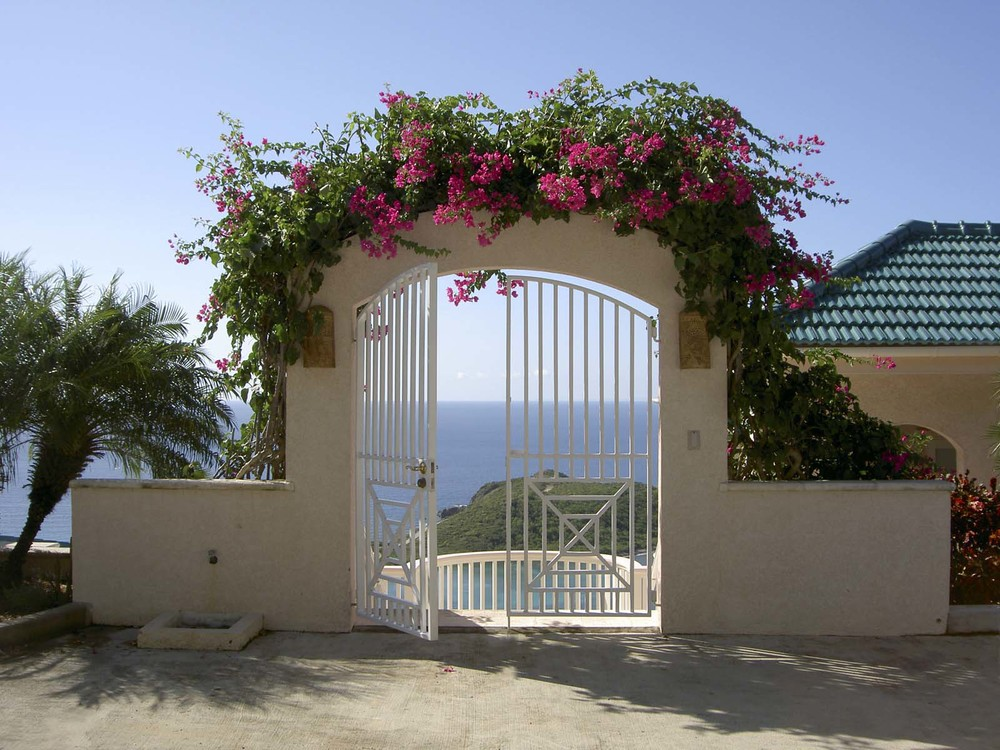 Gorgeous entrance, St. John Vacation Rental