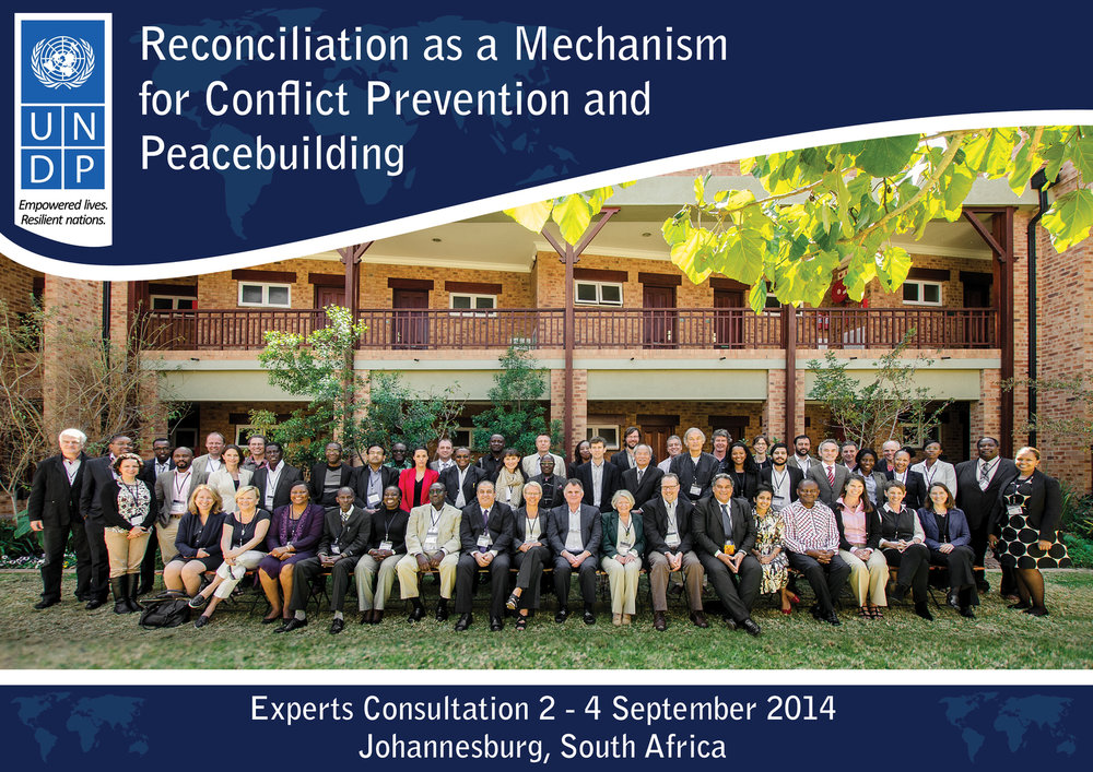 Dr. Starzyk at an United Nations Development Program experts consultation on reconciliation.