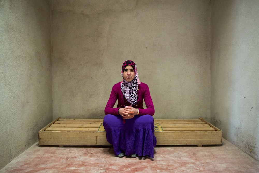 "Mina Ait Hmad, 23, is going to be married soon, ""I regret dropping out of school, but it's too late now for me to go back now. I'm getting ready for the next stage in my life."""
