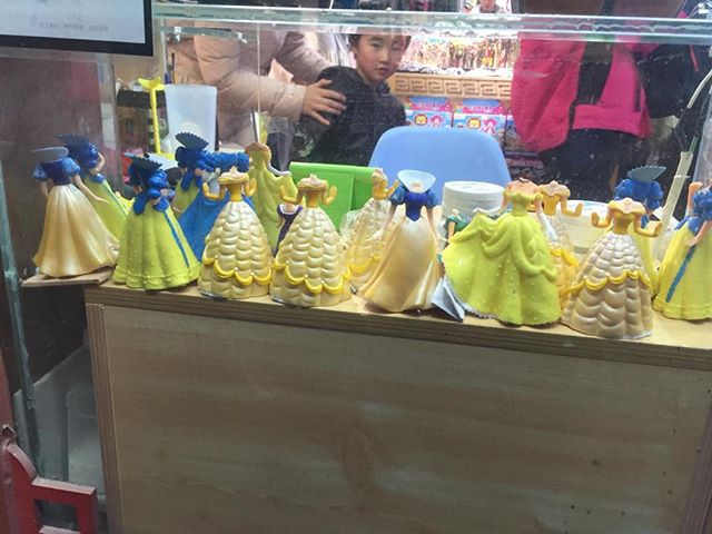 At the Headless Disney Princess store in Beijing.