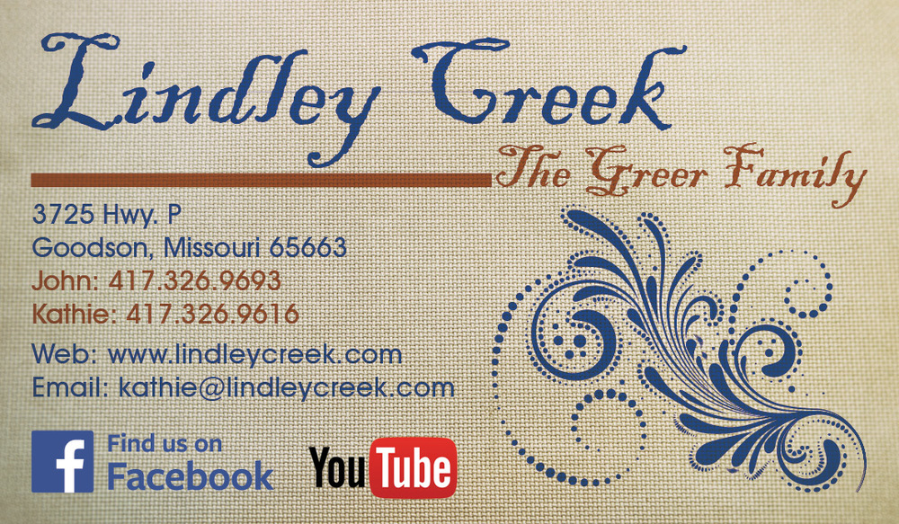 Back side of business card