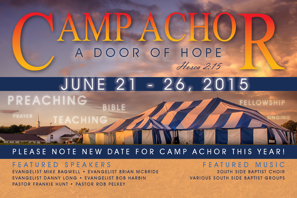 Camp Achor Card Front
