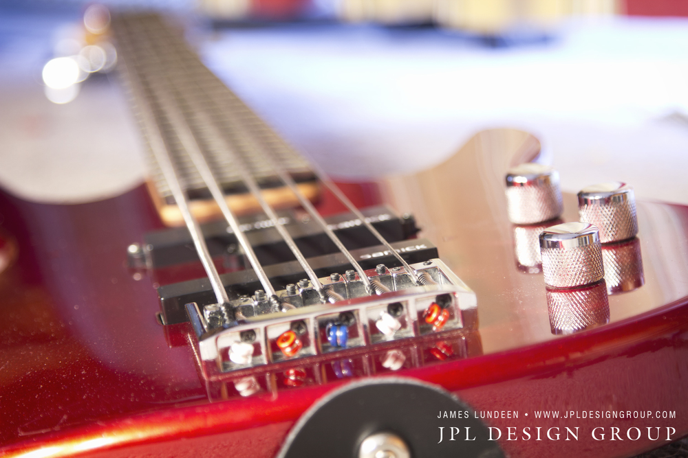 Color Photo of a 5 String Samick Bass Guitar