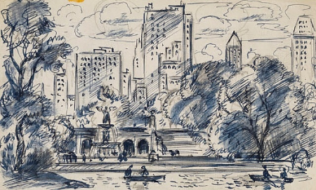 gifford-beal-south-towards-bethesda-fountain,-central-park-1