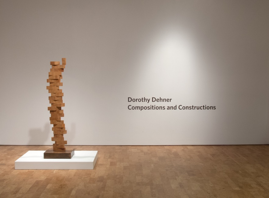 Installation image of Dorothy Dehner geometric sculpture
