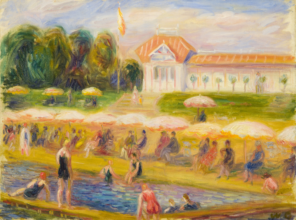Glackens, Bathing Pavillion at Isle Adam