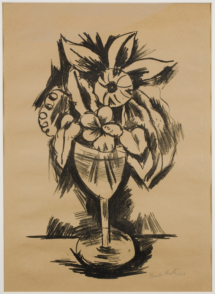 Drawing of flowers in goblet