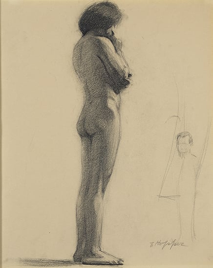 Hopper, Standing Nude