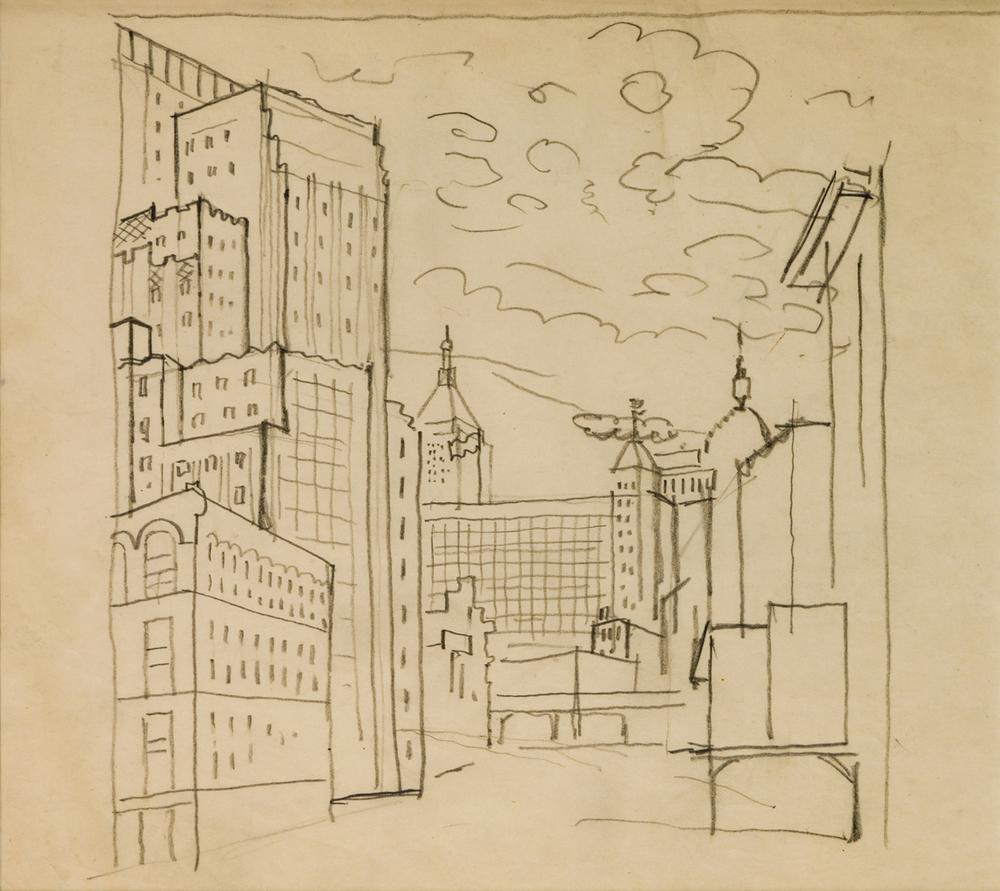 Davis, Lower Manhattan (aka New York Study I)