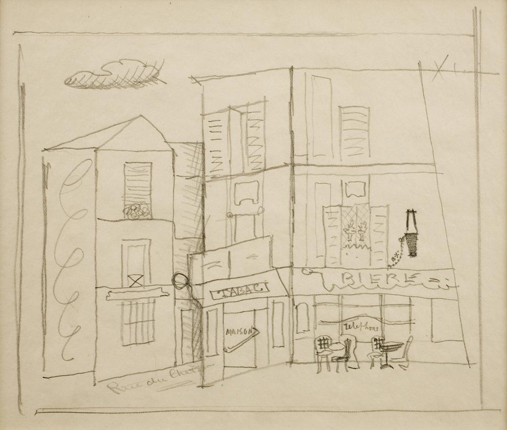 Davis, Rue de Chateau, Sketch #7