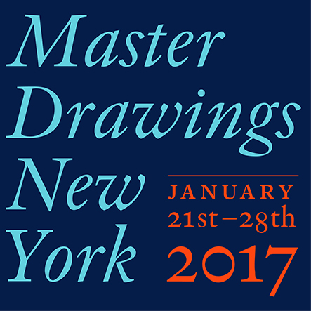 "Graphic reading ""Master Drawings New York. January 21st - 28th 2017"" on blue background"