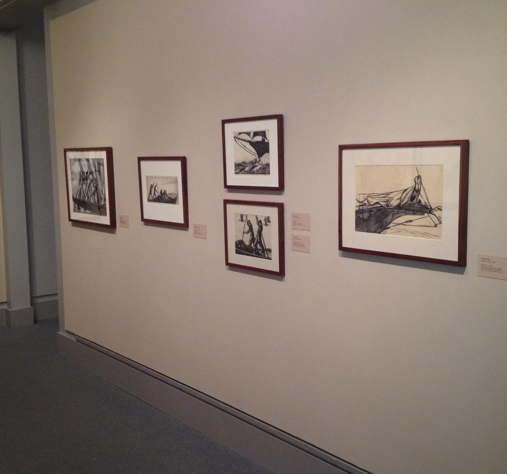 Installation photos of Gifford Beal's framed art