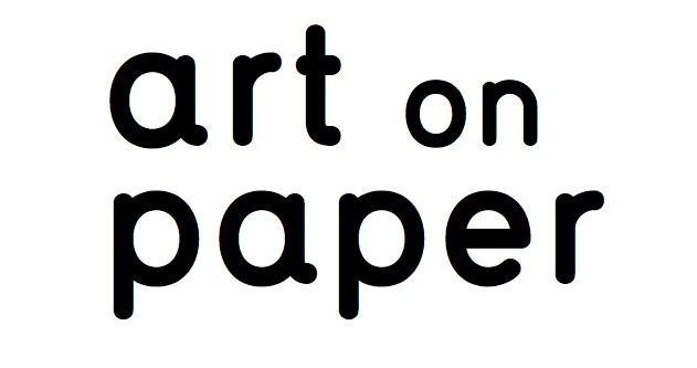 """logo reading """"art on paper"""""""