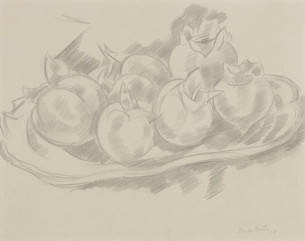 Pencil drawing of pomegranates