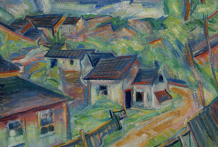 Dickinson, Houses (in a Tropical Landscape)