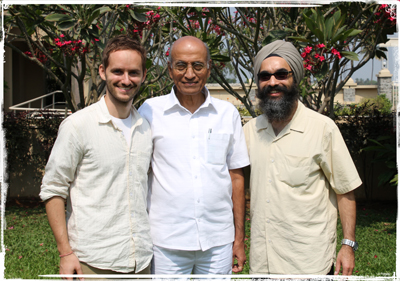 Jeremy (L), Dr. Lad (C) & Sartaj (R) in Pune, India 2013