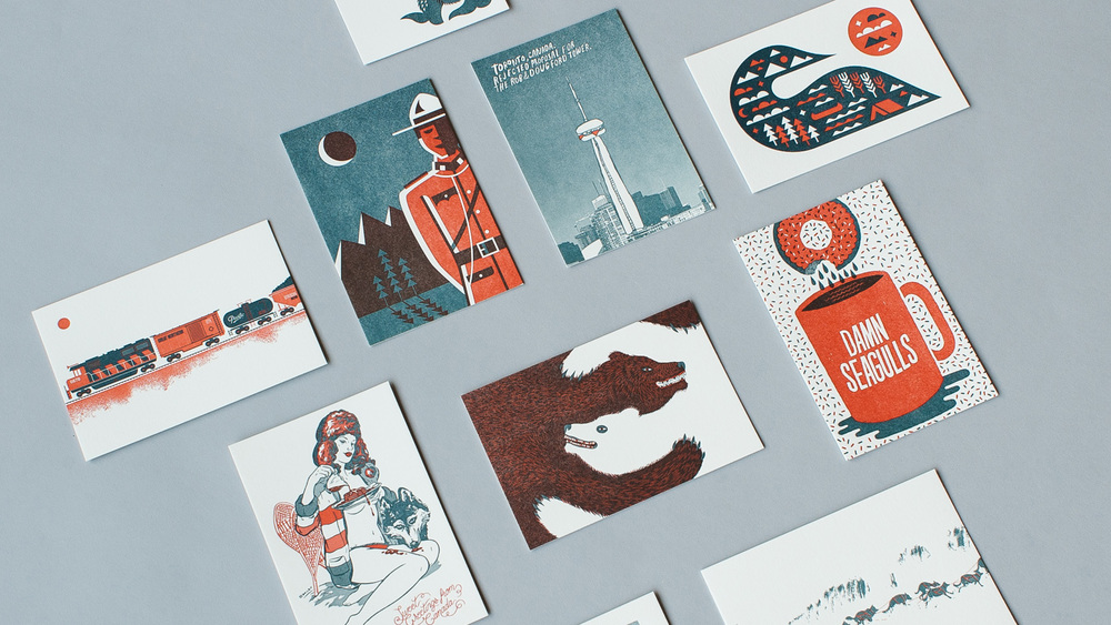 Greetings from canada everlovin press fine letterpress printed greetings from canada is a limited edition run of fine letterpress postcards featuring the work of 10 canadian artists illustrators and designers m4hsunfo