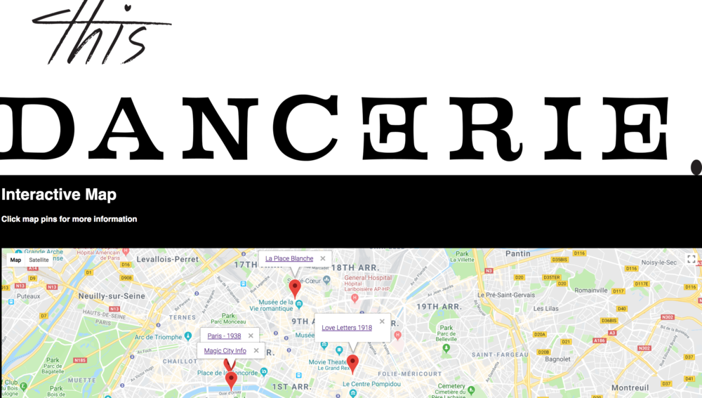 This Dancerie Interactive Map - Iteration 1 (web)
