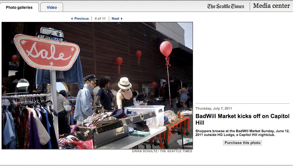 THE SEATTLE TIMES 2011 // BADWILL MARKET