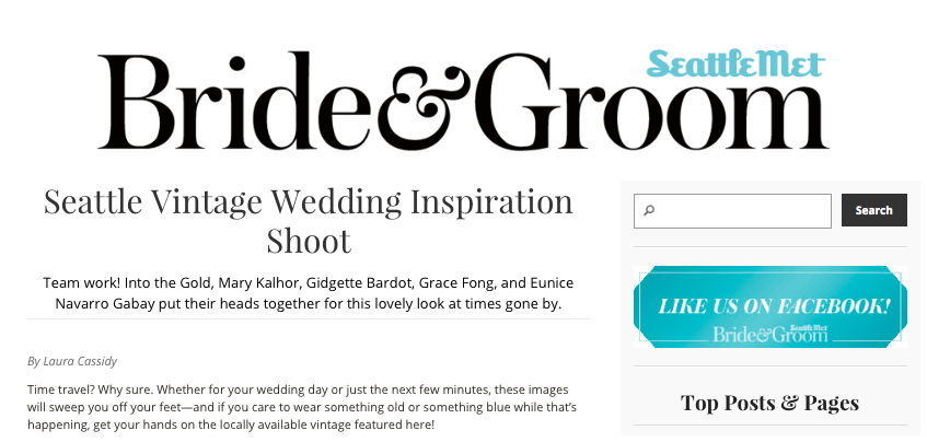 SEATTLE MET BRIDE & GROOM // GIDGETTE BARDOT