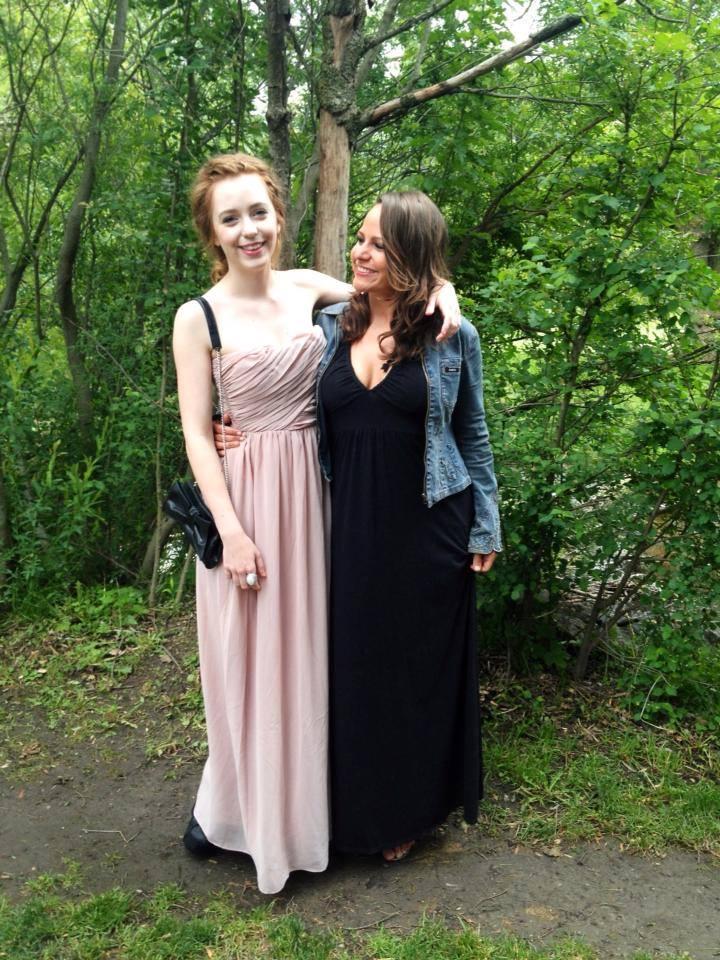 Proud mama bear. Paige's prom, 2013.