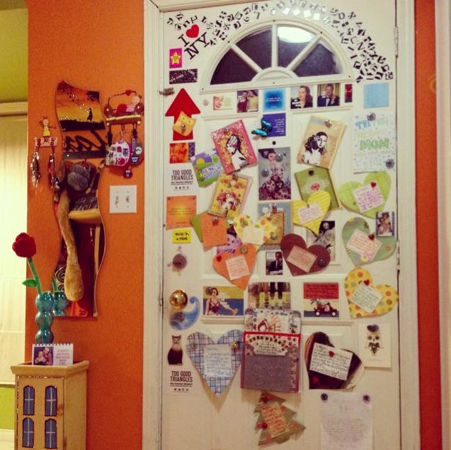 My door of love that's filled with many of Paige's treasures over the years.