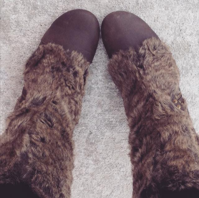 Bought myself faux fur boots because they bring me closer to my dream of being an adorable furry creature instead of a dreaded human.