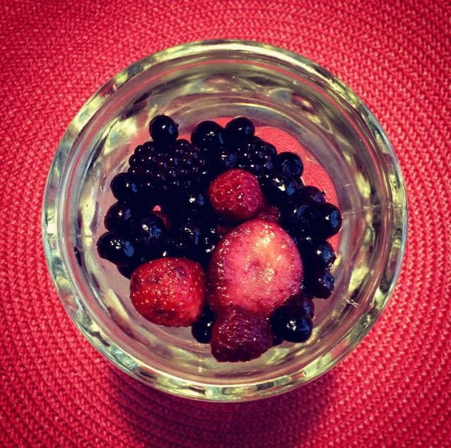 The berries drank my wine x 5, maybe 6